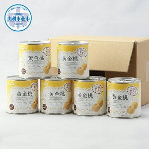 【ふるさと納税】B98247黄金桃缶詰6缶セット