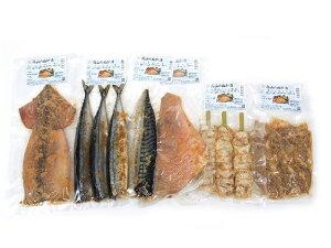 【ふるさと納税】C47303 魚・肉糠漬セット(さんま・いか・赤魚・さば・鶏もも肉・串鶏ぼんじり)