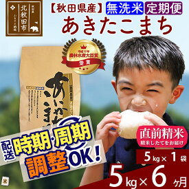 【ふるさと納税】 《定期便6ヶ月》 【無洗米】 秋田県産 合川地区限定 あきたこまち 5kg(5kg×1袋)×6回 農家直送 6回 6か月 6ヵ月 6カ月 6ケ月