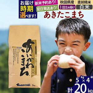 【ふるさと納税】 【白米】 秋田県産 あきたこまち 20kg(5kg×4袋) あいかわこまち お届け時期選べる 新米 令和3年産 農家直送 一等米 20キロ お米 配送時期選べる