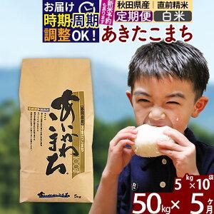 【ふるさと納税】 【白米】 《定期便5ヶ月》 秋田県産あきたこまち50kg(5kg×10袋)×5回 あいかわこまち 農家直送 一等米 5か月 5ヵ月 5カ月 5ケ月 50キロ お米