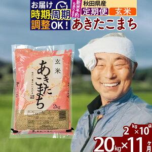 【ふるさと納税】 【玄米】 《定期便11ヶ月》 秋田県産あきたこまち20kg(2kg×10袋)×11回 おすそわけ 小分け 一等米 農産物検査員がいるお店 11か月 11ヵ月 11カ月 11ケ月 20キロ お米