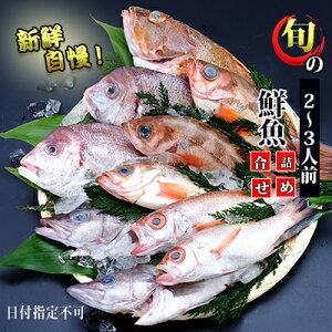 【ふるさと納税】発送メールのみ 日本海の鮮魚詰め合わせ(2〜3人前 下処理済み 切り身 魚介 セット) 【魚介類・鮮魚詰め合わせ・詰合せ・お魚】