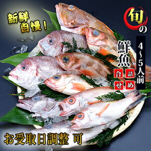 【ふるさと納税】超新鮮な日本海の鮮魚(大・4〜5人前)(下処理済み 魚 詰め合わせ セット 詰合せ) 【魚介・切り身・パック・蟹・カニ】