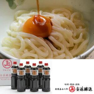 【ふるさと納税】【安藤醸造】 そばつゆ 1L×6本 【しょうゆ・醤油】