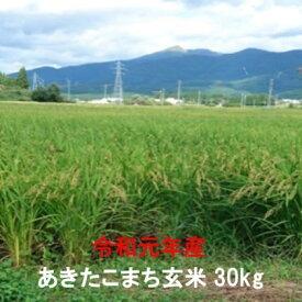 【ふるさと納税】仙北市産 令和元年 玄米 あきたこまち 30kg 【お米・あきたこまち】 お届け:2019年10月中旬頃から順次出荷予定です。
