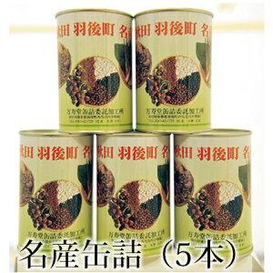【ふるさと納税】名産缶詰セット(5本入) 【缶詰・タケノコ・小豆・黒豆・ささぎ豆】