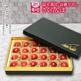 【ふるさと納税】5月はまるごと母の日 山形さくらんぼ 佐藤錦 L24粒 チョコ箱
