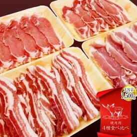 【ふるさと納税】月山maltポーク 焼肉用 4種食べ比べセット 1500g