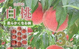 【ふるさと納税】FS20-062 【令和3年産先行予約】山形市産桃[柔らかくなる桃] 秀3kg