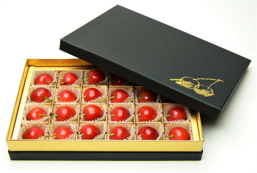【ふるさと納税】FY18-299 ♪母の日♪山形さくらんぼ佐藤錦秀 L24粒チョコ箱メッセージ