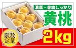 【ふるさと納税】FY19-398♪山形黄金色の桃♪黄桃秀品2kg