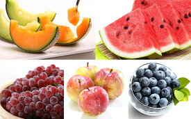 【ふるさと納税】FY19-636【令和2年産先行予約】メロンと季節のフルーツ盛り合わせ 約3.5kg