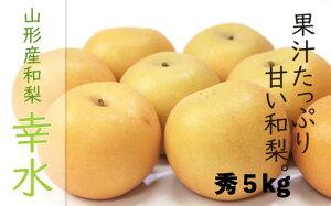 【ふるさと納税】FY19-647【令和2年産先行予約】【果汁あふれる】 山形産 和梨(幸水) 秀5kg