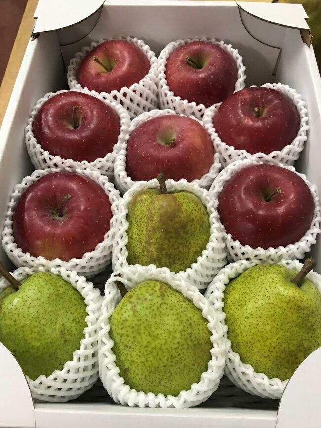 【ふるさと納税】 FY18-762 ラフランス&葉とらずふじりんご 詰合せ 約3kg