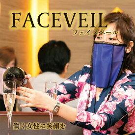 【ふるさと納税】《着けたまま飲食可》フェイスベール スタンダードタイプ 4色セット フェイスガード