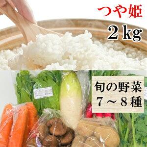 【ふるさと納税】A01-101 田和楽のつや姫2kgと庄内産旬の野菜セット