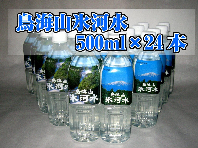 【ふるさと納税】鳥海山氷河水500ml×24本セット