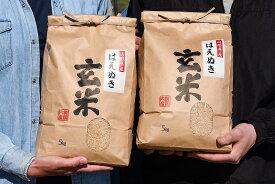 【ふるさと納税】山形県産 はえぬき 玄米 10kg(5kg×2袋)2021年産 新米 ≪こだわりの自家栽培米≫