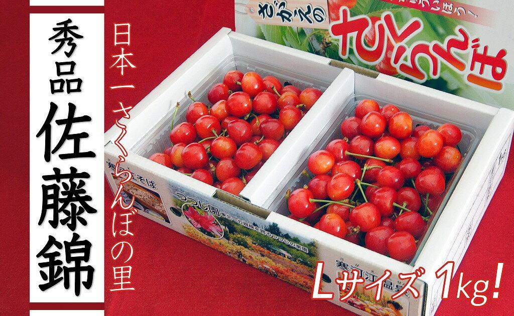 【ふるさと納税】「日本一さくらんぼの里」さくらんぼ 1kg(佐藤錦・秀品)
