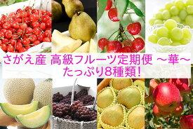 【ふるさと納税】 【果物王国 山形】 贅沢 さがえ 産 高級 フルーツ8回 定期便 〜 華 〜