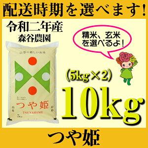 【ふるさと納税】 米 10kg 5kg×2 つや姫 新米 精米 玄米 令和2年産 2020年産 山形県村山市産 送料無料 先行予約