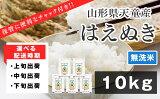 【ふるさと納税】はえぬき無洗米10kg(保管に便利なチャック付!)【山形県天童市】