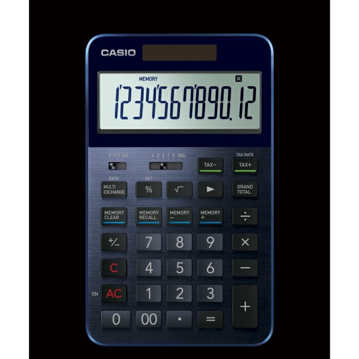 【ふるさと納税】C-0059 CASIO・プレミアム電卓 S100BU(カラー:ネイビーブルー)