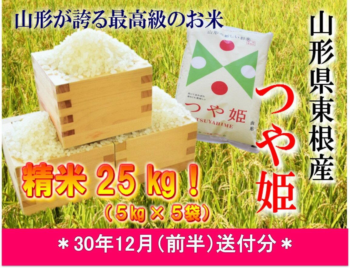 【ふるさと納税】A-587 30年産[精米]つや姫25kg(30年12月前半送付分)JA提供