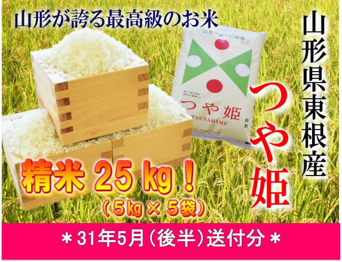 【ふるさと納税】A-598 30年産[精米]つや姫25kg(31年5月後半送付分)JA提供