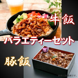 【ふるさと納税】A-0128 かんたん本格調理 牛飯・豚飯バラエティセット