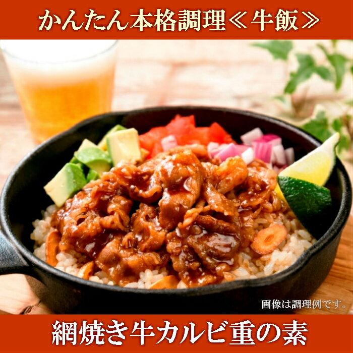 【ふるさと納税】A-127 かんたん本格調理(牛飯)網焼き牛カルビ重の素