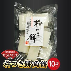 【ふるさと納税】特別栽培米ヒメノモチ 杵つき餅 角餅10袋セット 0774-2