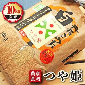 【ふるさと納税】山形県産 つや姫 玄米 10kg 農家直送