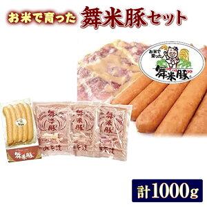 【ふるさと納税】山形県山辺産 舞米豚ウインナー&みそ漬セットB(1000g)