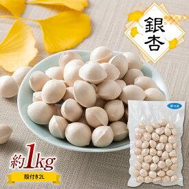 【ふるさと納税】銀杏約1kg(殻付き、2L)