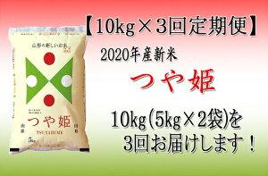 【ふるさと納税】【定期便】2020年河北町産「つや姫」特別栽培米10kg×3回