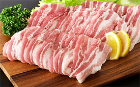 【ふるさと納税】やまがたの豚バラスライス 約1.7kg