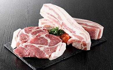 【ふるさと納税】山形県産豚2種盛り約1800gとリピート率NO1厚切り牛タン約300g