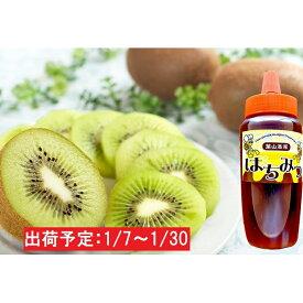 【ふるさと納税】1月 山形県産キウイフルーツ約2kg ハチミツ300g 【果物詰合せ・フルーツ・蜂蜜・はちみつ・果物類・詰合せ】 お届け:2021年1月7日〜2021年1月30日
