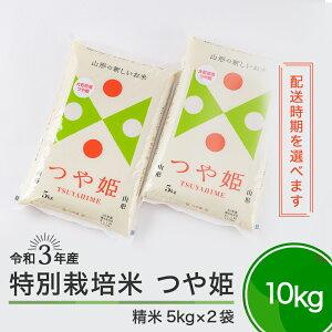 【ふるさと納税】米 令和3年産 つや姫10kg 大石田町産 特別栽培米 精米 送料無料