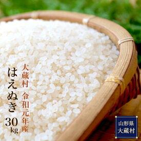 【ふるさと納税】≪毎月5kg×2袋:3ヶ月定期便≫令和元年産はえぬき30kg