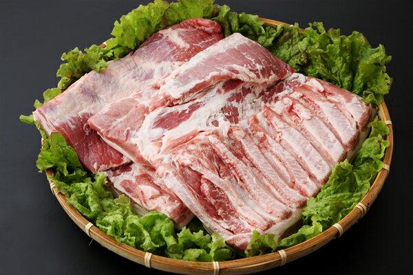 【ふるさと納税】【D-165】山形県庄内SPF豚最上川ポークバラブロック4kg