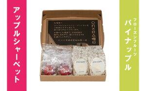 【ふるさと納税】No.0099 アップルシャーベット&フローズンフルーツパイナップル