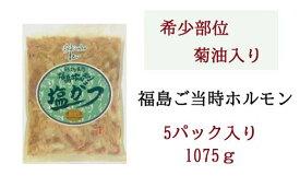 【ふるさと納税】No.0166 ふくしまご当地!福島ホルモン 塩がつ 麓山高原豚使用 【5パック入】