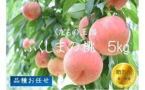 【ふるさと納税】No.1026 【先行予約】ふくしまの桃 5kg 品種お任せ【贈答用】もも モモ