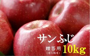 【ふるさと納税】No.1011 【2021年度産先行受付】りんご サンふじ 10kg 大玉 【贈答用】 林檎 リンゴ(秀〜特秀)