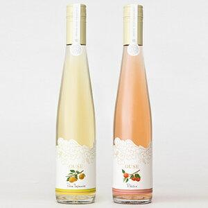 【ふるさと納税】【ふくしま逢瀬ワイナリー】OUSE リキュールセット(桃と梨) 【ワイン・お酒】