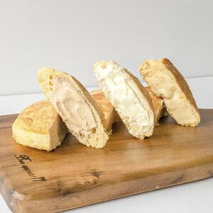 【ふるさと納税】いわきの素材たっぷり!手作りクリームパンケーキ8個セット