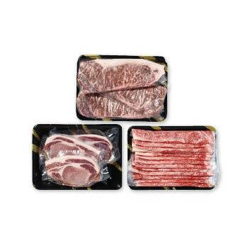 【ふるさと納税】福島県の牛・豚 3種類ごちそう詰合せ